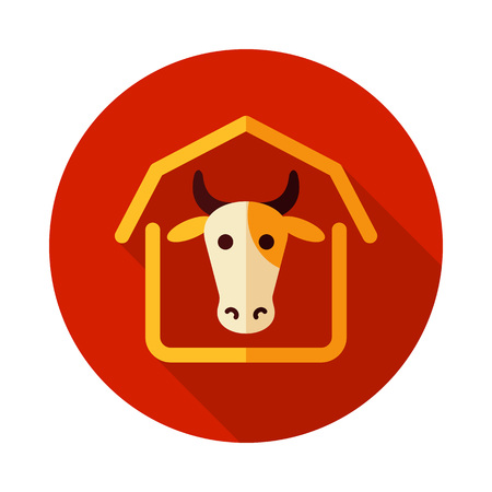 Cowshed icon. Farm animal sign. Graph symbol for your web site design, logo, app, UI. Vector illustration Ilustrace
