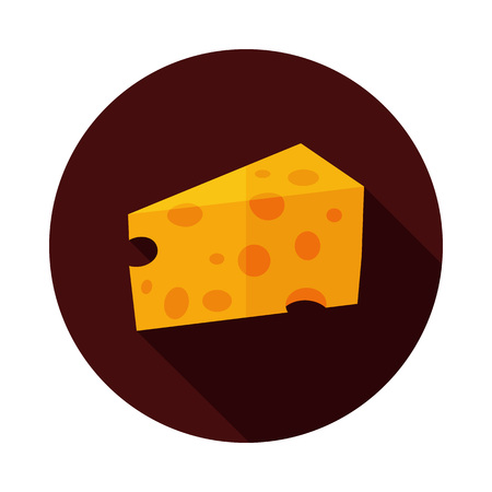 Piece of cheese icon. Farm animal sign. Graph symbol for your web site design, logo, app, UI. Vector illustration