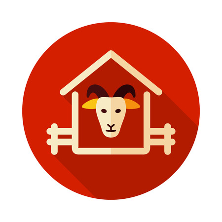 Goat house icon. Farm animal sign. Graph symbol for your web site design, logo, app, UI. Vector illustration Illusztráció