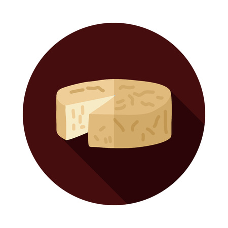 Soft cheese with mold icon. Farm animal sign. Graph symbol for your web site design, logo, app, UI. Vector illustration Vettoriali