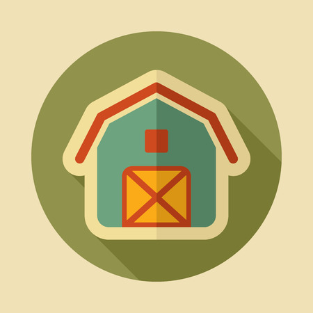 Barn icon. Farm animal sign. Graph symbol for your web site design, logo, app, UI. Vector illustration Illusztráció