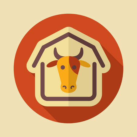 Cowshed icon. Graph symbol for your web site design, app, UI. Vector illustration