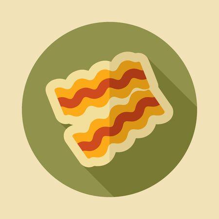 Bacon pieces icon. Graph symbol for your web site design, logo, app, UI. Vector illustration Illustration