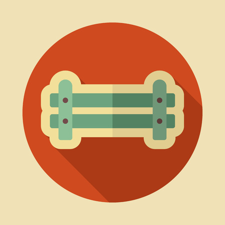 Wooden farm fence from crossed planking icon.  Graph symbol for your web site design, logo, app, UI. Vector illustration