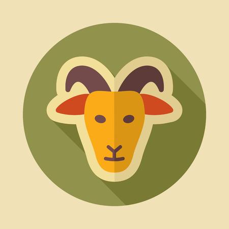 Goat icon. Animal head. Farm sign. Graph symbol for your web site design, logo, app, UI. Vector illustration Illustration