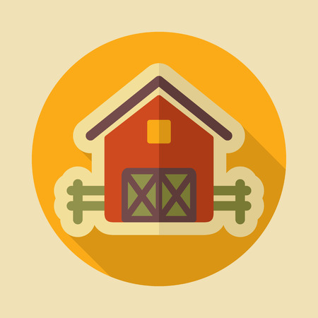 Barn icon. Graph symbol for your web site design, logo, app, UI. Vector illustration