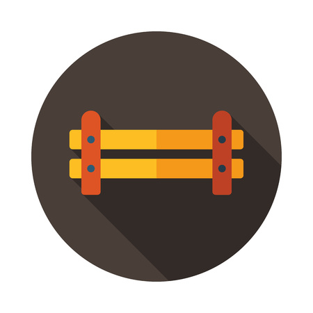Wooden farm fence from crossed planking icon. Farm animal sign. Graph symbol for your web site design, logo, app, UI. Vector illustration