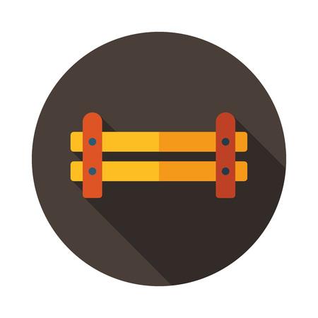 Hölzerner Bauernhofzaun von gekreuzter Verschalungsikone. Nutztier Zeichen. Diagrammsymbol für Ihr Website-Design, Logo, App, Benutzeroberfläche. Vektor-illustration