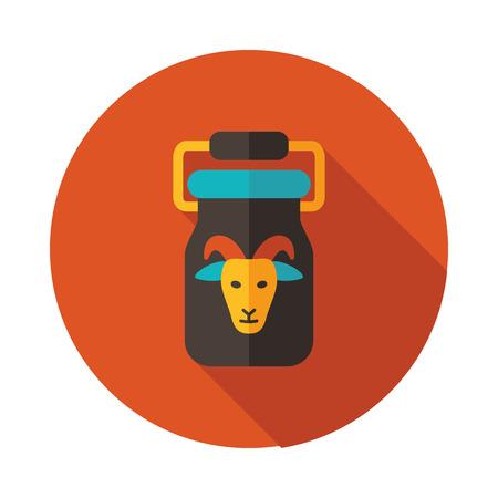 Peut conteneur pour l'icône de lait. Signe d'animaux de ferme. Symbole graphique pour la conception de votre site Web, logo, application, interface utilisateur. Illustration vectorielle