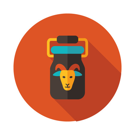 Can container for milk icon. Farm animal sign. Graph symbol for your web site design, logo, app, UI. Vector illustration