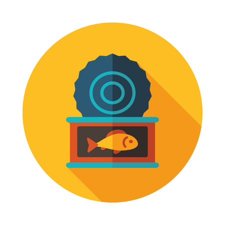 Fish preserves icon. Farm animal sign. Graph symbol for your web site design, icon, app, UI. Vector illustration.
