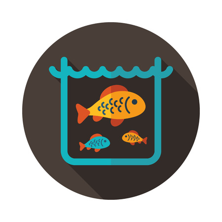 Fish in a pond or aquarium icon. Farm animal sign. Graph symbol for your web site design, logo, app, UI. Vector illustration