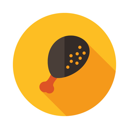 Chicken leg icon. Farm animal sign. Graph symbol for your web site design, logo, app, UI. Vector illustration