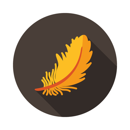 Feather icon. Farm animal sign. Graph symbol for your web site design, logo, app, UI. Vector illustration  イラスト・ベクター素材