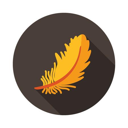 Feather icon. Farm animal sign. Graph symbol for your web site design, logo, app, UI. Vector illustration Vettoriali