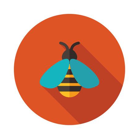 Honey bee icon. Farm animal sign. Graph symbol for your web site design, logo, app, UI. Vector illustration