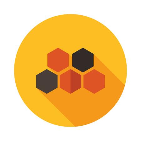 Honeycomb bee icon. Farm animal sign. Graph symbol for your web site design, logo, app, UI. Vector illustration Illustration