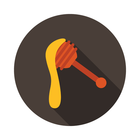 Honey dipper icon. Farm animal sign. Graph symbol for your web site design, logo, app, UI. Vector illustration Ilustração