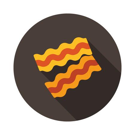 Bacon pieces icon. Farm animal sign. Graph symbol for your web site design, logo, app, UI. Vector illustration