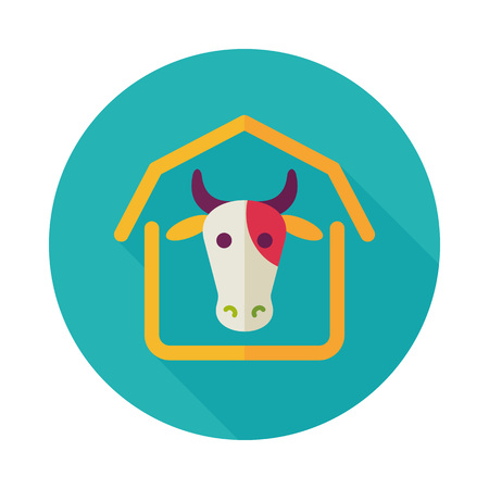 Cowshed icon. Farm animal sign. Graph symbol for your web site design, logo, app, UI. Vector illustration Illusztráció