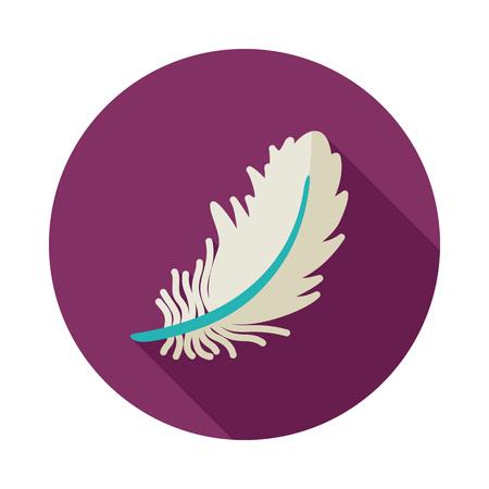 Feather icon. Farm animal sign.