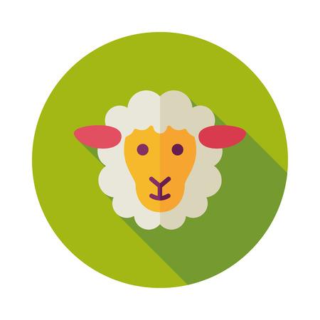 Sheep icon. Animal head. Farm sign. Graph symbol for your web site design, logo, app, UI. Vector illustration Illustration