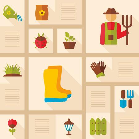 Garden Farm icons set. Graph symbol for your website design.