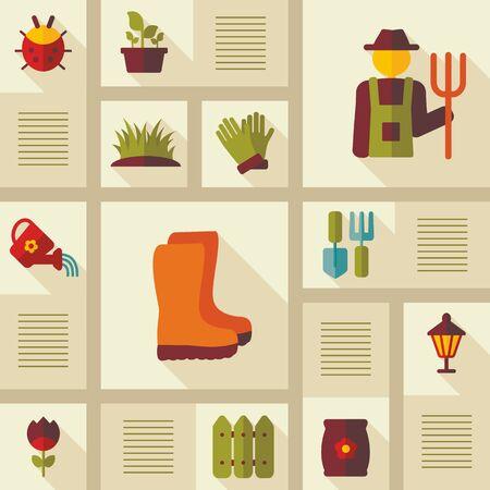 Garden Farm icons set. Graph symbol for your web site design, logo, app, UI. Vector illustration. Illustration