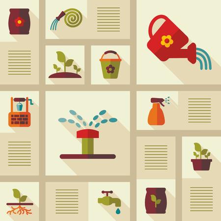 Garden Farm icons set. Graph symbol for your web site design, logo, app, UI. Vector illustration, EPS10.