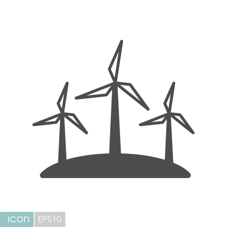 Windmill flat icon. Agriculture sign. Graph symbol for your web site design, icon, app, UI.