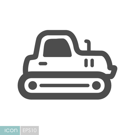 Tractor crawler icon. Agriculture sign. Graph symbol for your web site design, icon, app, UI.