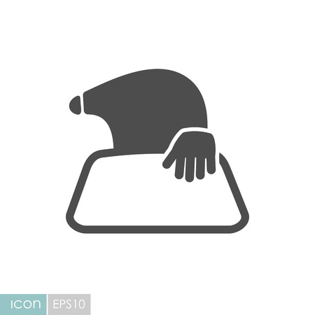 Mole icon for garden craft. Agriculture sign. Graph symbol for your web site design, logo, app, UI. Vector illustration, EPS10.