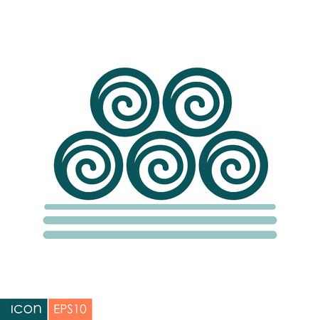 Round hay bales icon. Illusztráció