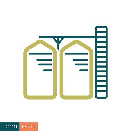 Granary vector icon.