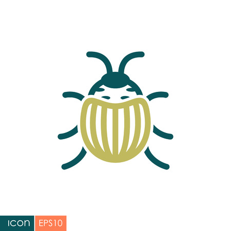 Colorado beetle icon. Agriculture sign. Graph symbol for your web site design, logo, app, UI. Vector illustration, EPS10.