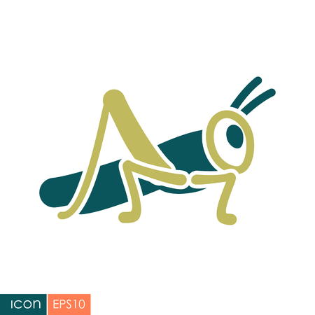 Grasshopper locust icon.