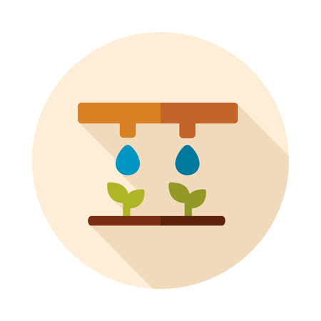 Drip irrigation system icon. Agriculture sign. Graph symbol for your web site design Stockfoto - 101558604