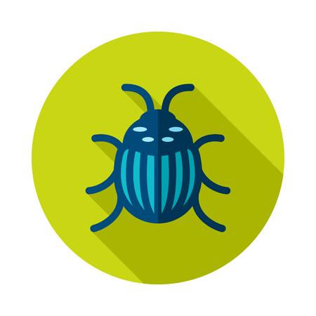 Colorado beetle icon. Agriculture sign. Graph symbol for your web site design, app, UI. Banque d'images - 101673564