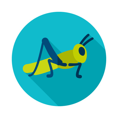 Grasshopper locust icon. Agriculture sign. Graph symbol for your web site design, app, UI.