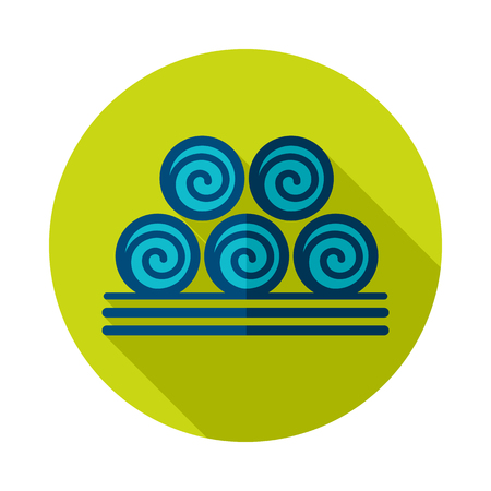 Round hay bales icon. Agriculture sign.  Graph symbol for your web site design, app, UI. Illustration