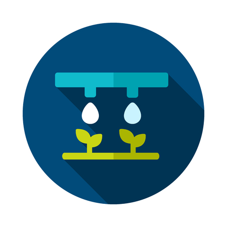 Drip irrigation system icon. Agriculture sign.  Graph symbol for your web site design, app, UI. Stock Illustratie