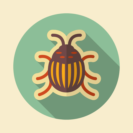 Colorado beetle icon. Agriculture sign.Graph symbol for your web site design