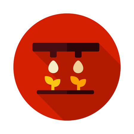 Drip irrigation system icon. Agriculture sign.Graph symbol for your web site design