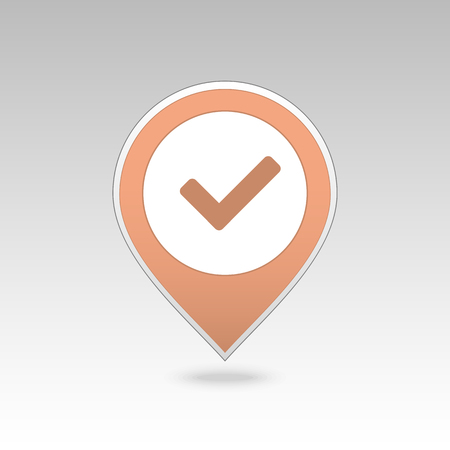 Check pin map icon. Map pointer. Map markers. Banque d'images - 102314493