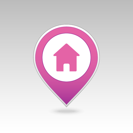 Home pin map icon. Map pointer. Map markers.