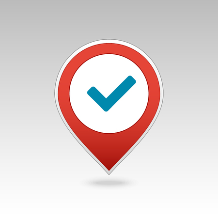 Check pin map icon. Map pointer. Map markers. Banque d'images - 102317088