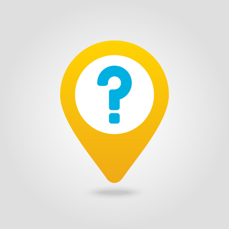 Question mark pin map icon. Map pointer. Map markers. Vettoriali