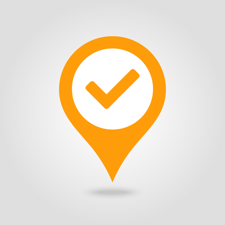 Check pin map icon. Map pointer. Map markers. Vector illustration Banque d'images - 102492399