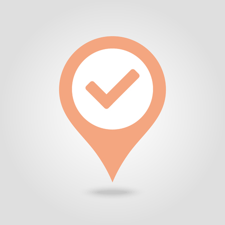 Check pin map icon. Map pointer. Map markers. Vector illustration Banque d'images - 102492516