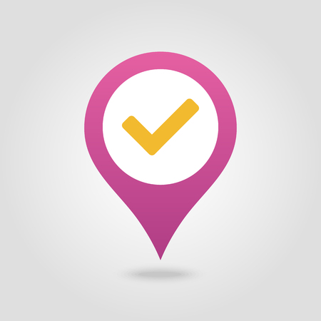 Check pin map icon. Map pointer. Map markers. Vector illustration Banque d'images - 102492519